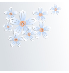 Floral background with camomiles vector