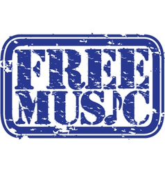 Free Music stamp vector image