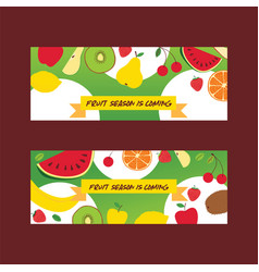Fruit pattern seamless fruity background and vector