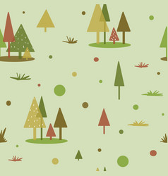 geometric tree forest pattern flat shape vector image