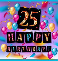 Gift card 25 years old vector