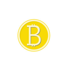 Gold bitcoin flat icon finance and business vector