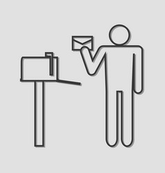 got mail vector image