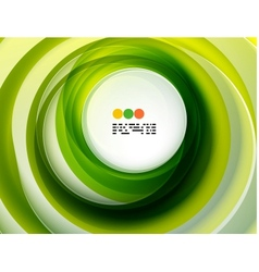 Green swirl abstract background vector image