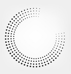 Halftone dotted dots circle background vector