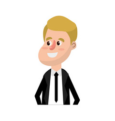 happy groom with hairstyle and elegant suit vector image vector image