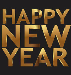 Happy New Year 3d golden text vector image