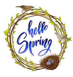 hello spring quote vector image