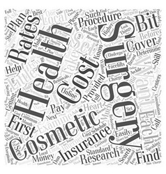 How to pay for your cosmetic surgery word cloud vector