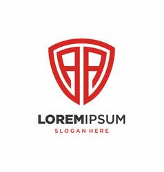 Initial letter a shield logo design vector