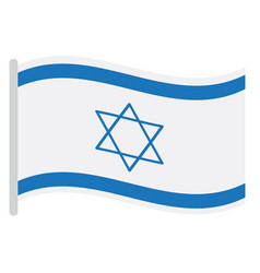isolated israeli flag vector image
