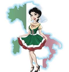 Italian girl vector