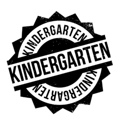 Kindergarten rubber stamp vector