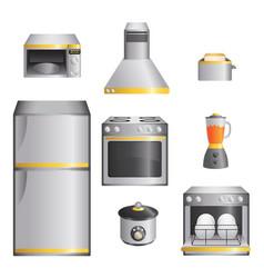 Kitchen appliances vector
