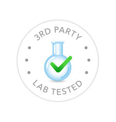 Lab tested round badge icon design vector