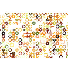 Line or shape generative art creative template vector
