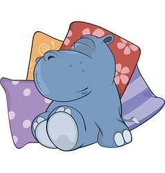 Little hippopotamus Cartoon vector image vector image