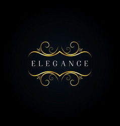 luxury elegant ornament logo style sign symbol vector image