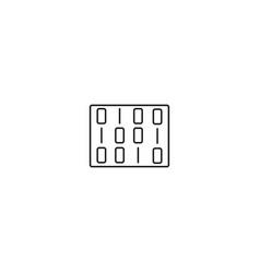 matrix line icon vector image