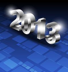 metallic 2013 design on technology background vector image