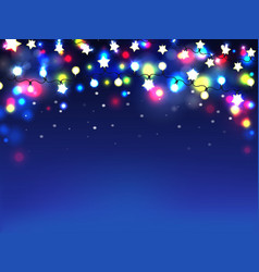 multicolored holiday garland realistic vector image