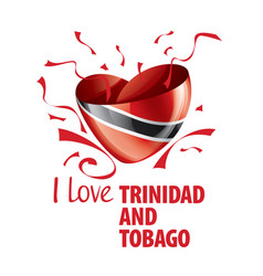 national flag trinidad and tobago in the vector image