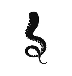octopus tentacle black monochrome icon or sign vector image