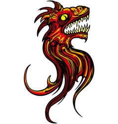 oriental fantasy dragon head vector image