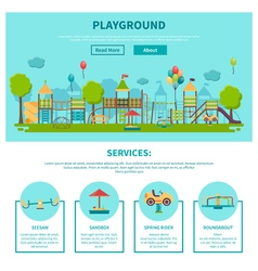 Outdoor Playground vector