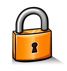 padlock cartoon icon isolated vector image