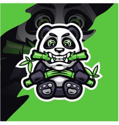 panda esport mascot logo design vector image