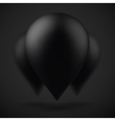 Photorealistic Black Air Balloons Bunch of vector image