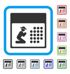pray calendar framed icon vector image