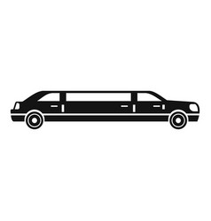 President limousine icon simple style vector