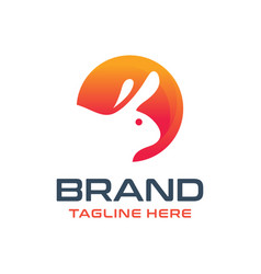 rabbit animal logo design vector image