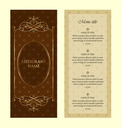 restaurant menu design template - vintage style vector image