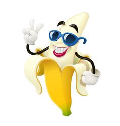 ripe banana tropical fruit vector image