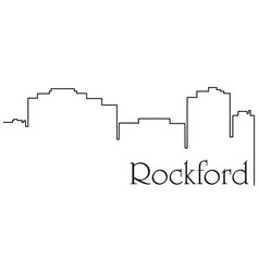 rockford city one line drawing vector image