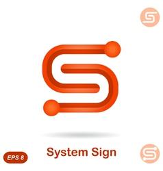 S letter - modern system concept sign vector image