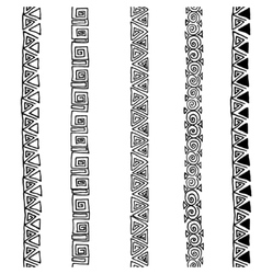 seamless black and white ethnic pattern vector image