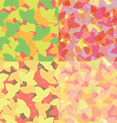 Seamless colorful leaves pattern Abstract backgro vector image