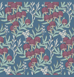 Seamless cute seasonal pattern with fores vector