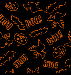 Seamless texture for halloween vector