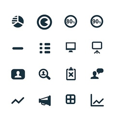 set of analytics research icons vector image