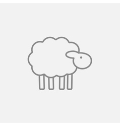 Sheep line icon vector