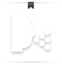 sneezing head shadow icon vector image