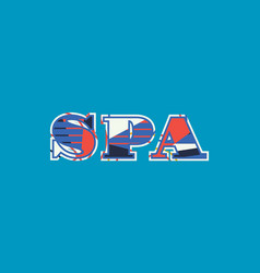Spa concept word art vector