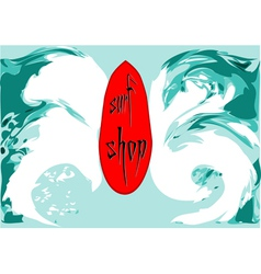 surf shop vector image