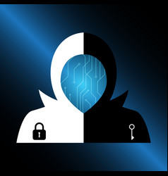 Technology digital future abstract cyber security vector