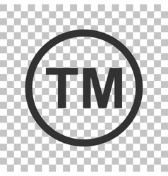 Trade mark sign Dark gray icon on transparent vector